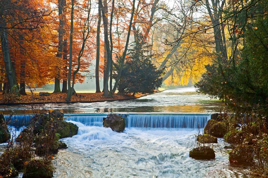 Munich waterfall